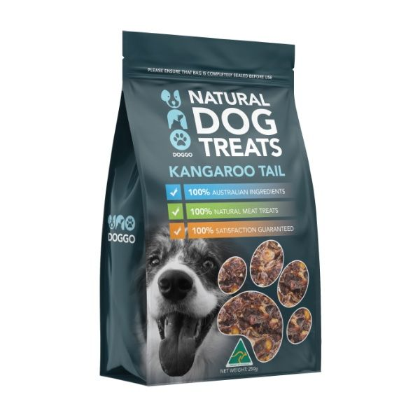 Kangaroo Tail Disk Natural Dog Treats 250g