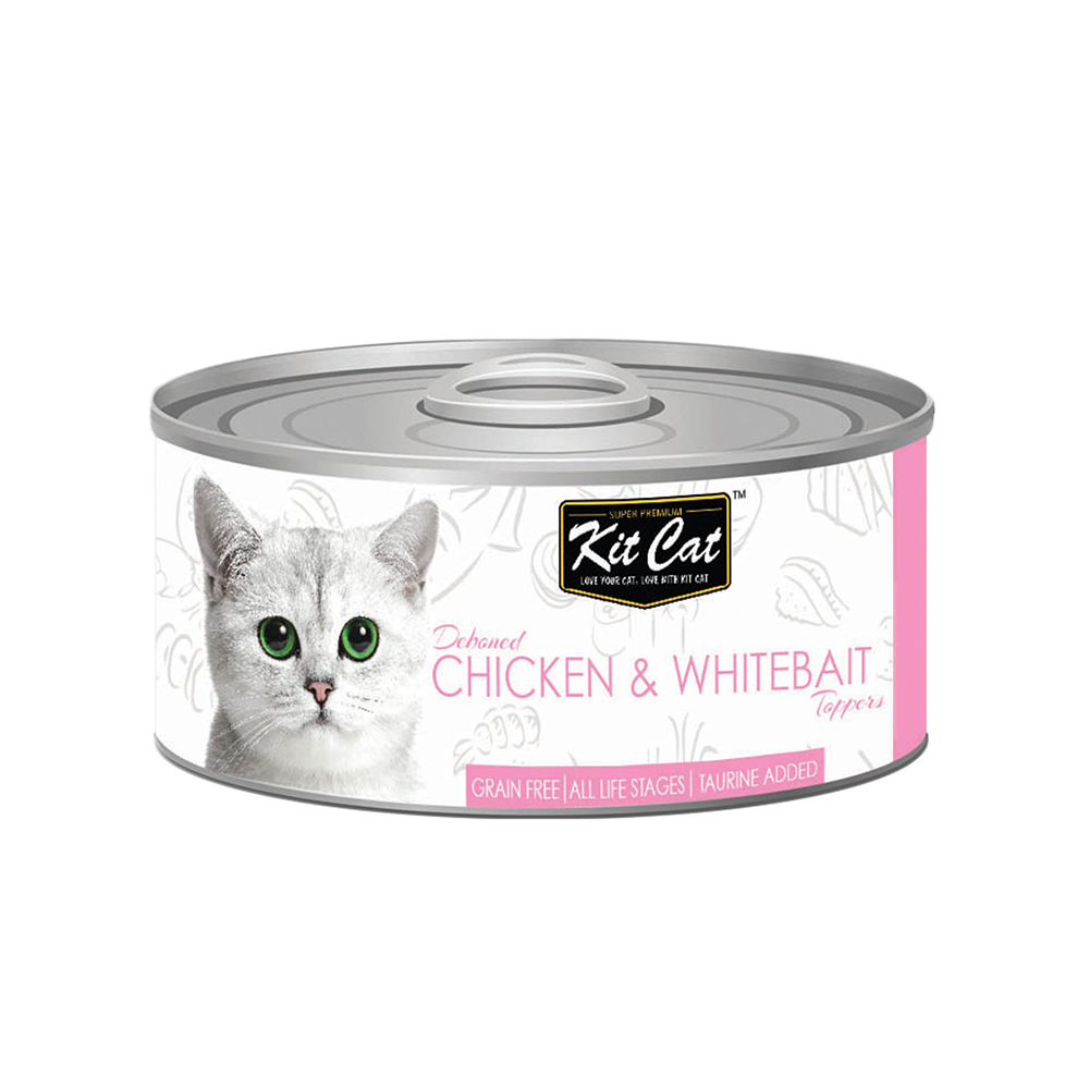Kit Cat Deboned Chicken & Whitebait Toppers Canned Cat Food