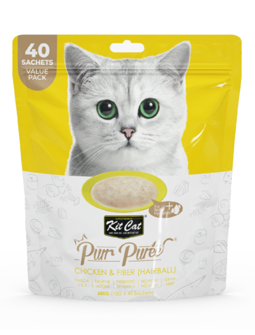 Purr Puree Chicken and Fiber Cat Treat
