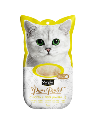 Purr Puree Chicken & Fiber (Hairball) Cat Treat