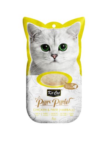 Purr Puree Chicken & Fiber (Hairball) Cat Treat