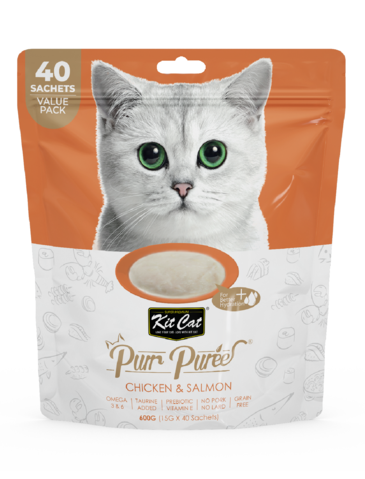 Purr Puree Chicken and Salmon Cat Treat