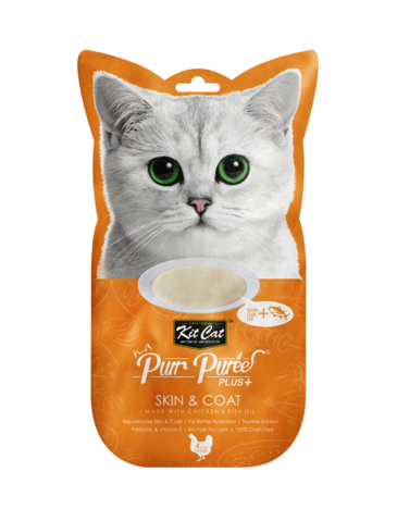 Purr Puree Plus+ Skin & Coat (Chicken & Fish Oil)