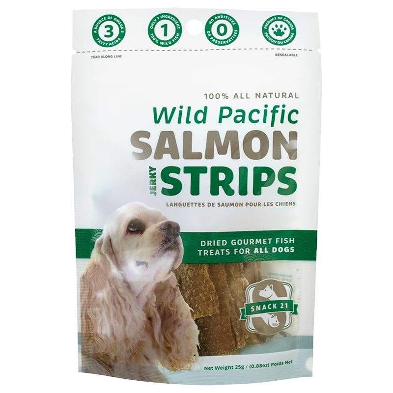 Wild Pacific Salmon Strips for Dogs 25g