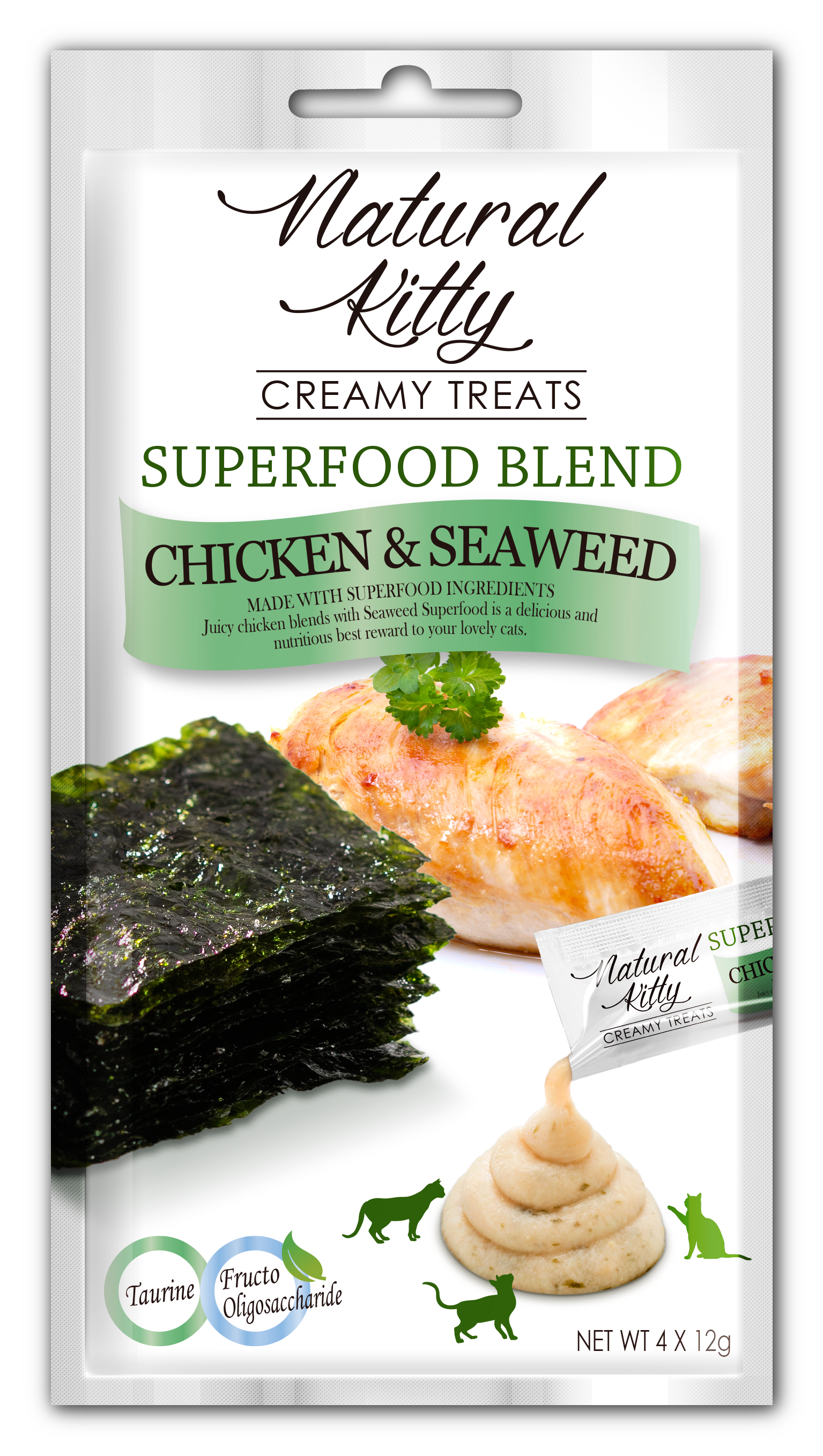 Creamy Treats Superfood Blend - Chicken and Seaweed (4 x 12g)