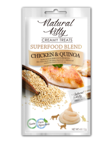 Creamy Treats Superfood Blend - Chicken & Quinoa (4 x 12g)