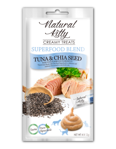 Creamy Treats Superfood Blend - Tuna & Chia Seed (4 x 12g)