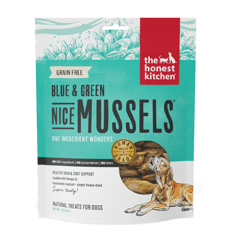 Nice Mussels Freeze Dried Green and Blue Whole Mussels 2 oz