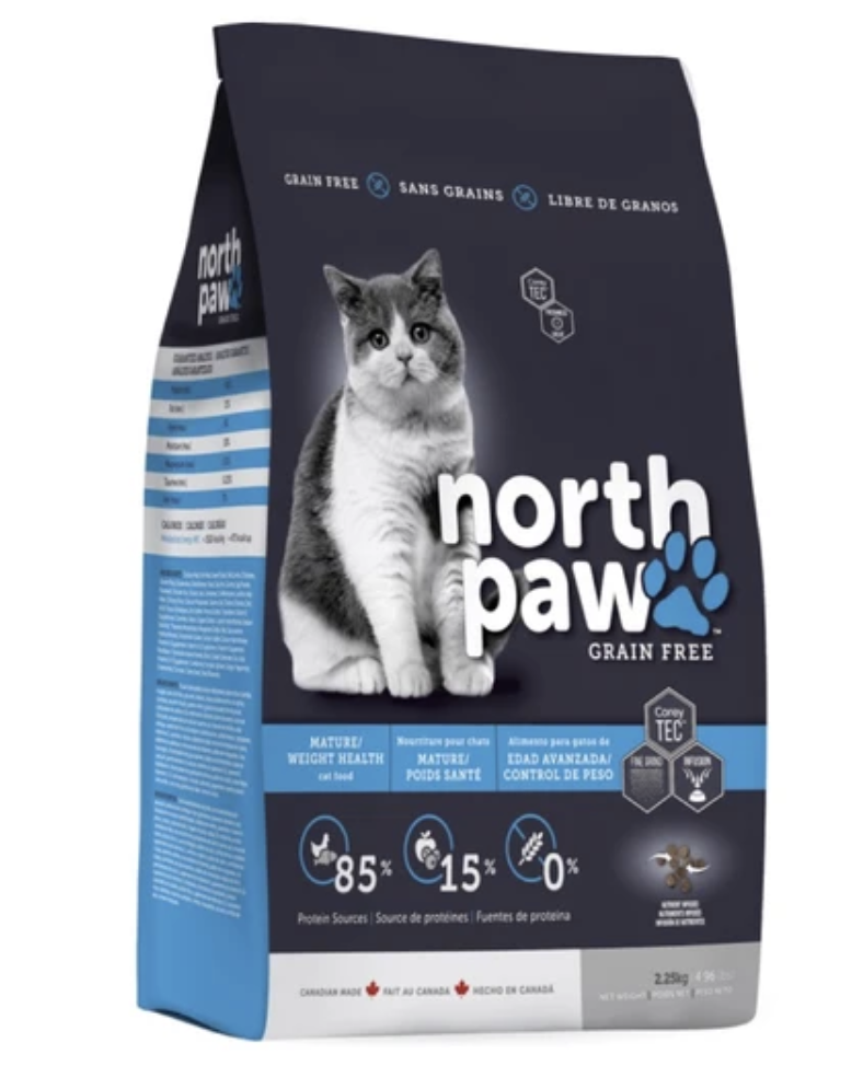 North Paw Mature Weight Health Cat Dry Food