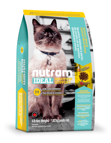 Nutram Ideal Solution Support Skin, Coat & Stomach Dry Cat Food