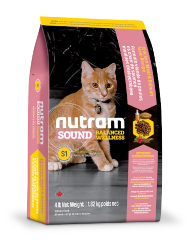 Nutram Sound Balanced Wellness Kitten Dry Cat Food