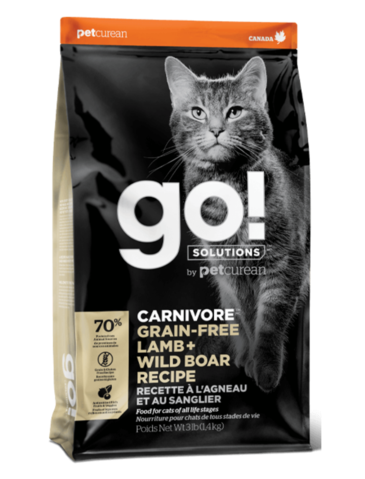 Petcurean Go! Carnivore Grain Free Lamb+Wild Boar Recipe Dry Cat Food
