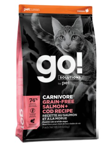 Petcurean Go! Carnivore Grain Free Salmon+Cod Recipe Dry Cat Food