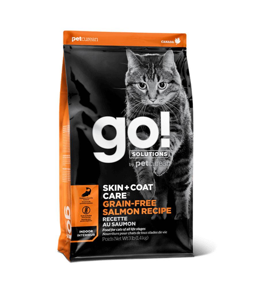 Petcurean Go! Skin+Coat Grain Free Salmon Recipe Dry Cat Food