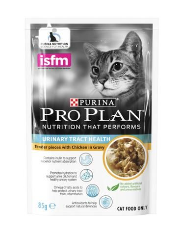 Pro Plan Urinary Tract Health Chicken In Gravy Adult Cat Wet Food sample