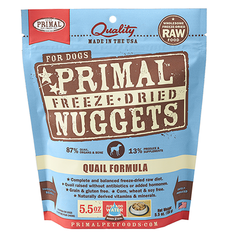 Freeze-Dried Canine Quail Formula