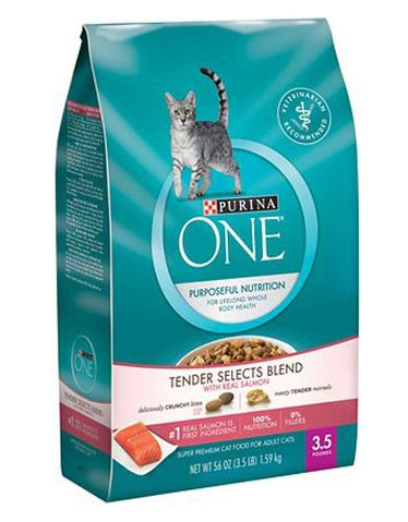 Purina One Tender Selects Blend Salmon Dry Cat Food