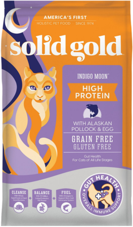 Solid Gold Grain Free Indigo Moon Pollock & Eggs Recipe Dry Cat Food