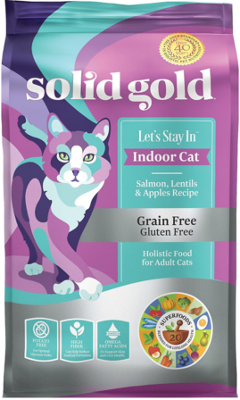 Solid Gold Grain Free Salmon, Lentils & Apples Recipe Dry Cat Food