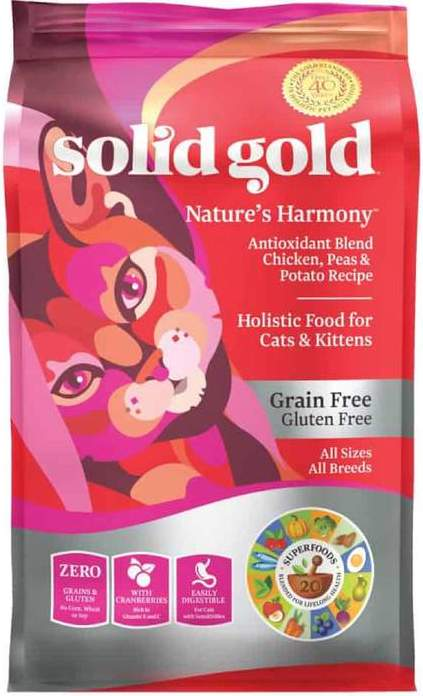 Solid Gold Nature's Harmony With Chicken, Peas & Potato Recipe Dry Cat Food