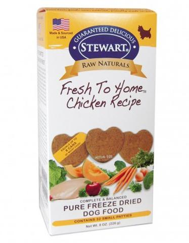 Raw Naturals Freeze Dried Heart-Shaped Patties Chicken Dog Treats