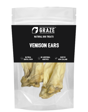 NZ Natural Venison Ears Dog Chew (2 Sizes)