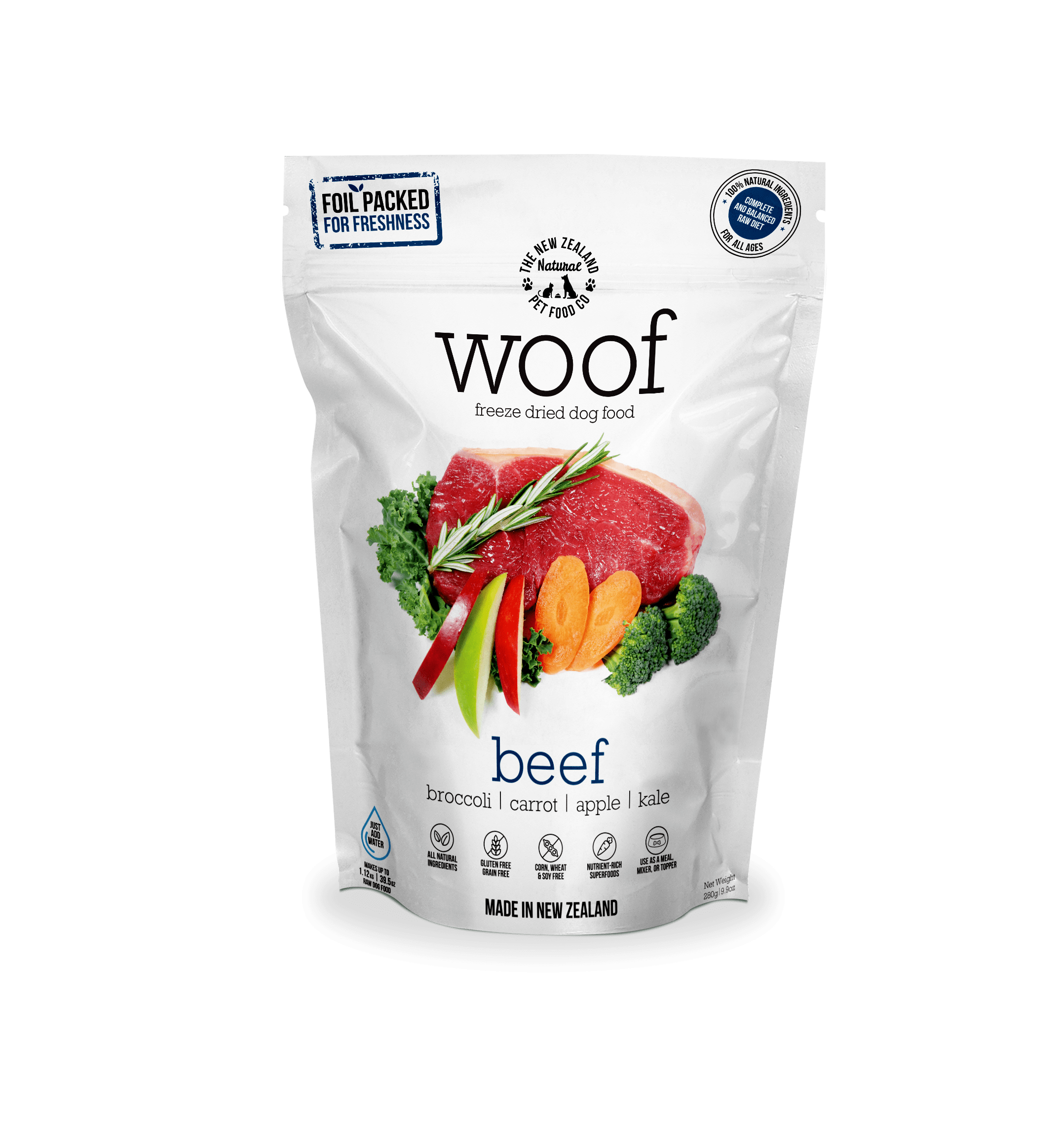 Freeze Dried Raw Beef Dog Dry Food