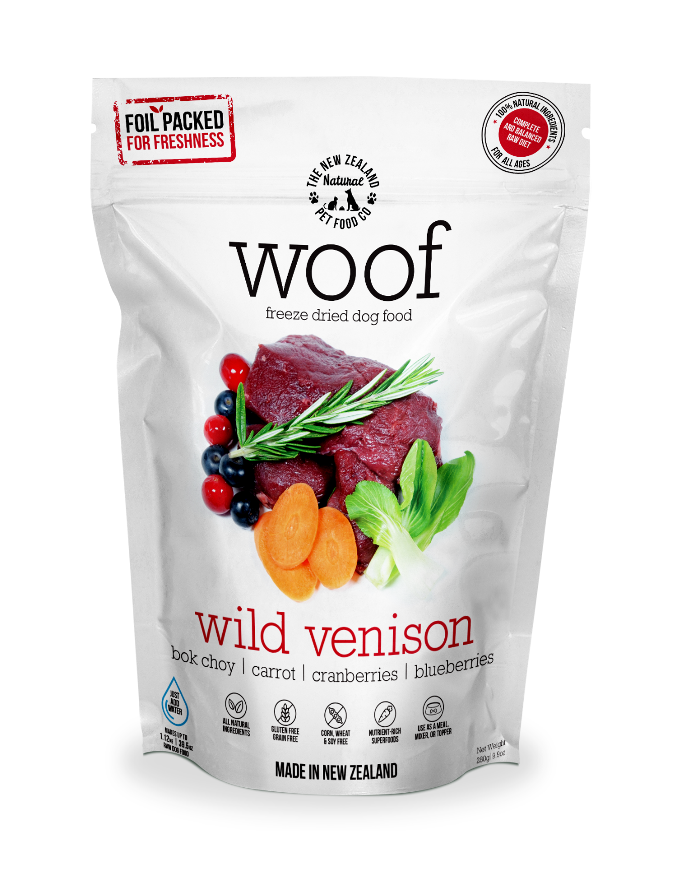 Freeze Dried Raw Venison Dog Dry Food