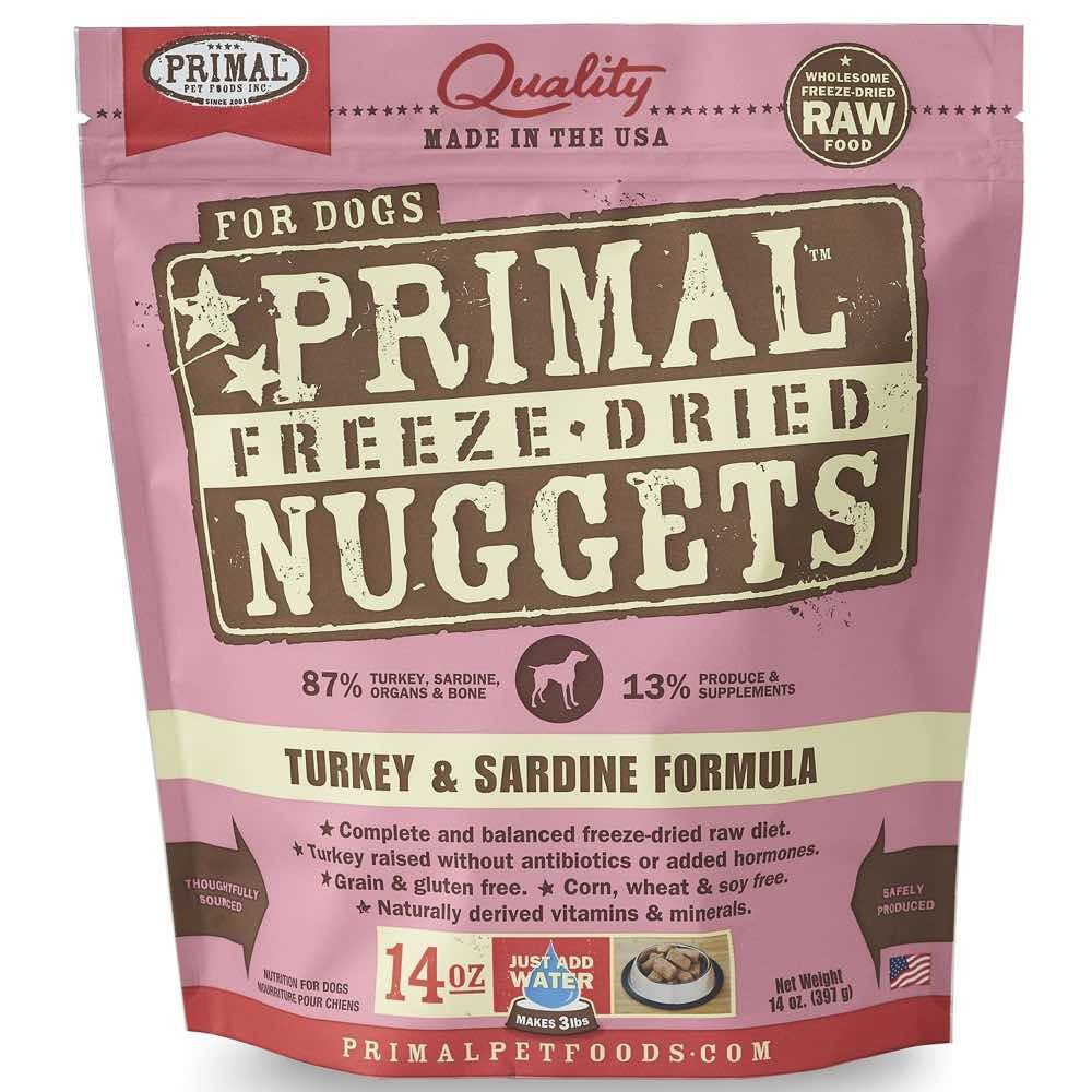 Freeze-Dried Canine Turkey & Sardine Nuggets