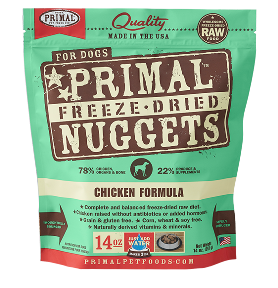 Freeze Dried Canine Chicken Nuggets