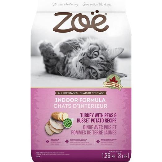 Zoe Indoor Formula Turkey With Peas & Russet Potato Cat Food