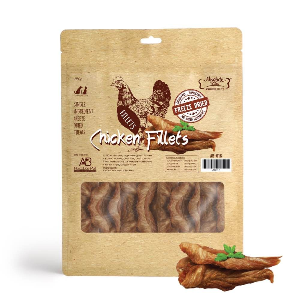 Freeze Dried Chicken Fillets Dog and Cat Treats 250g