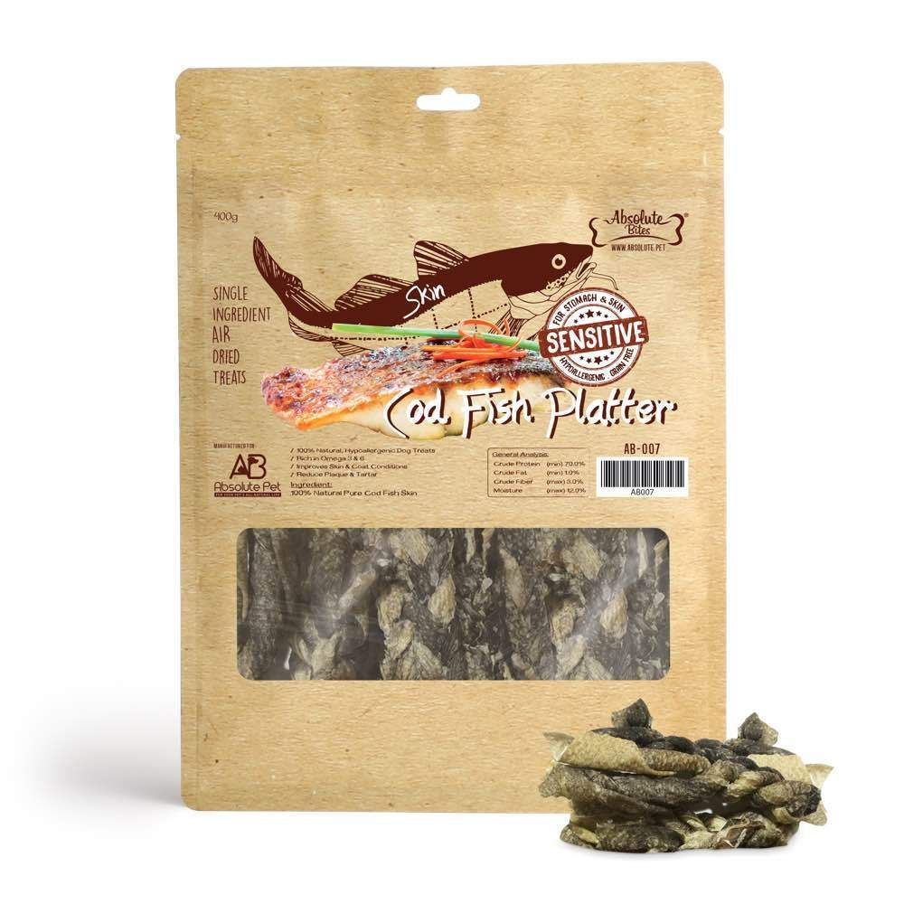 Air Dried Cod Fish Platter Dog Treats 400g