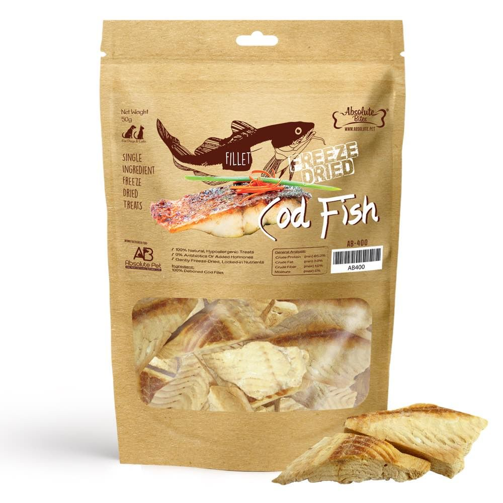 Freeze Dried Cod Fish Pet Treats 30g
