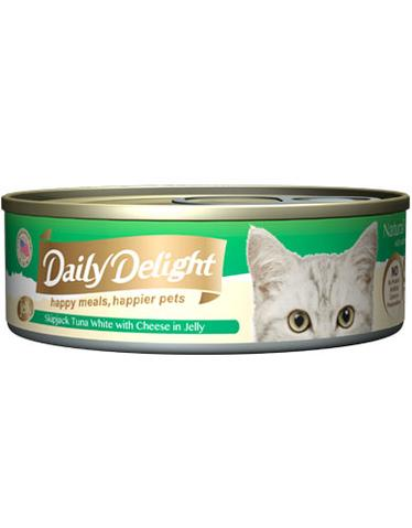 Jelly Skipjack Tuna White with Cheese Canned Cat Food