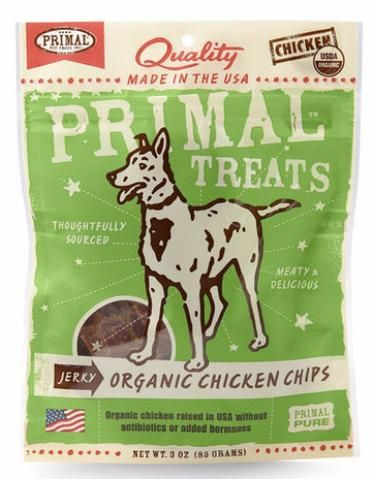 Jerky Organic Chicken Chips Treat 85g