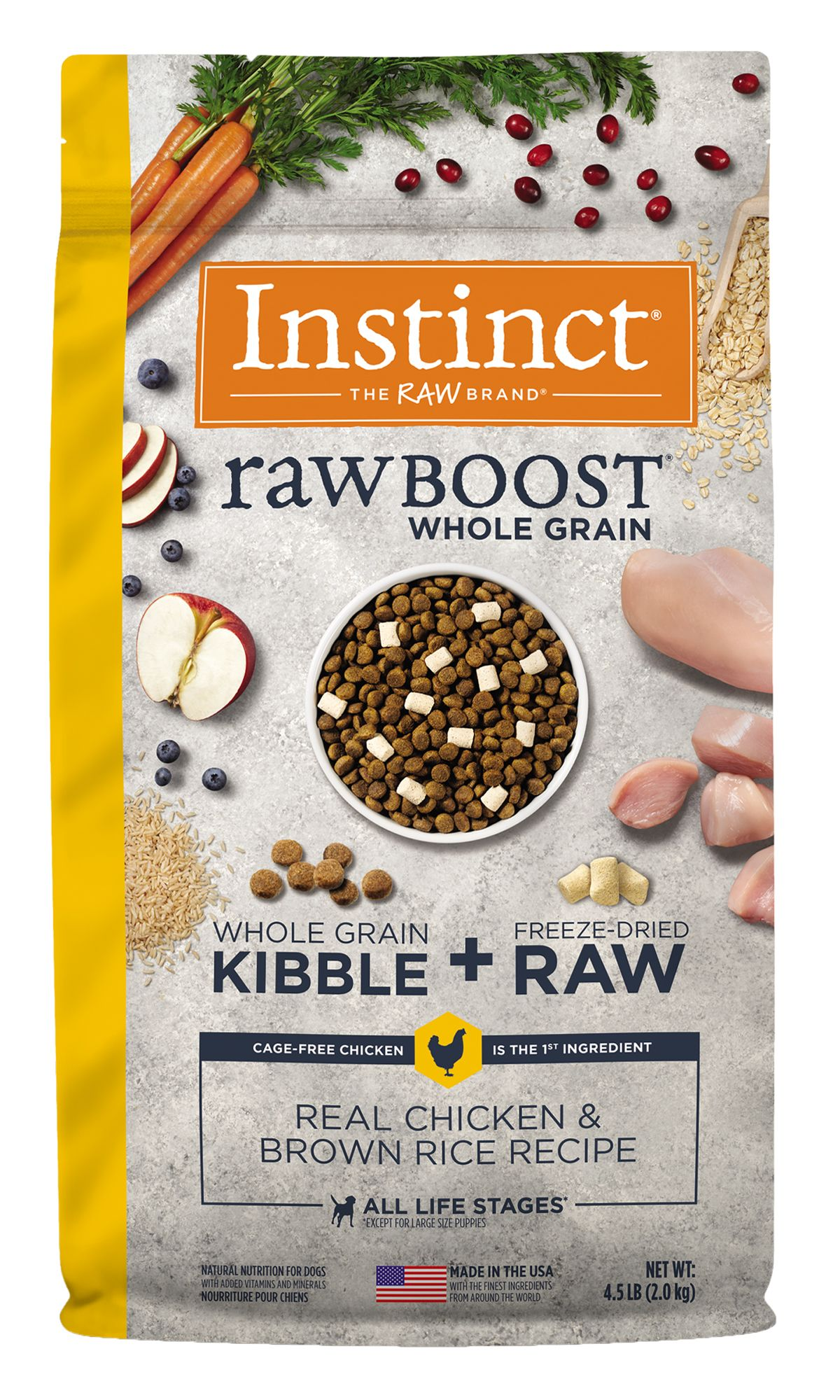 Raw Boost Whole Grain Recipe with Real Chicken and Brown Rice