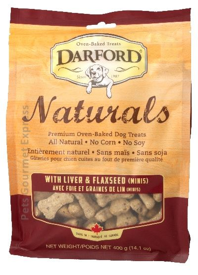 Naturals Liver and Flaxseed Minis Dog Treats 400g