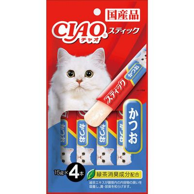Ciao Stick Tuna(Katsuo) In Jelly Cat Treats 15g (4pc/pack)