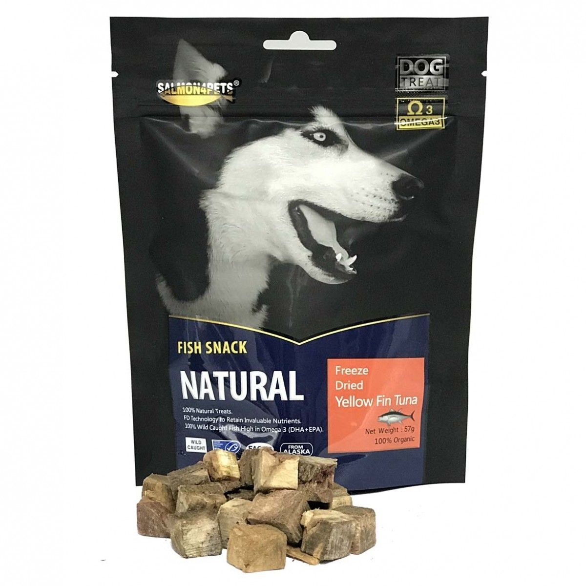 Freeze Dried Yellow Fin Tuna for Dog Treat 57g