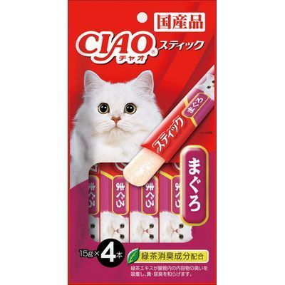 Ciao Stick Tuna(Maguro) In Jelly Cat Treats 15g (4pc/pack)
