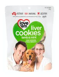 Lamb and Mint Cookies for Dogs 450g