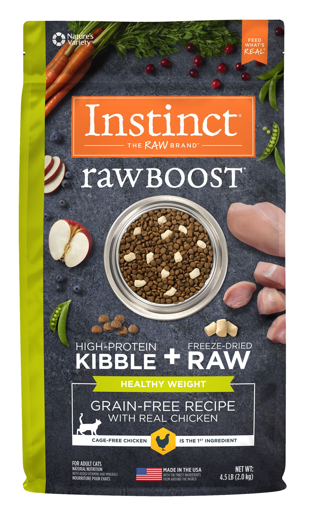 Instinct® Raw Boost® Grain-Free Recipe with Real Chicken for Healthy Weight