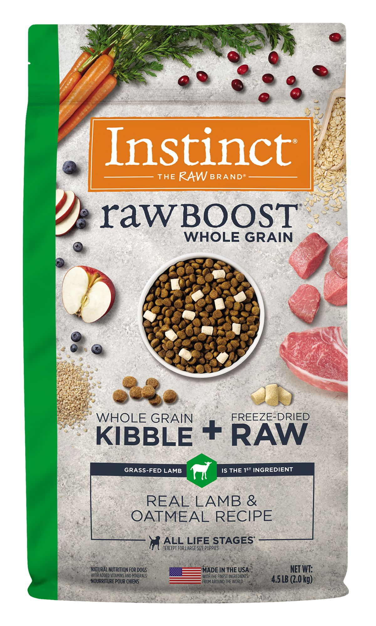 Raw Boost Whole Grain Recipe with Real Lamb and Oatmeal