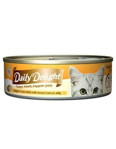 Jelly Skipjack Tuna White with Sweet Corn Canned Cat Food