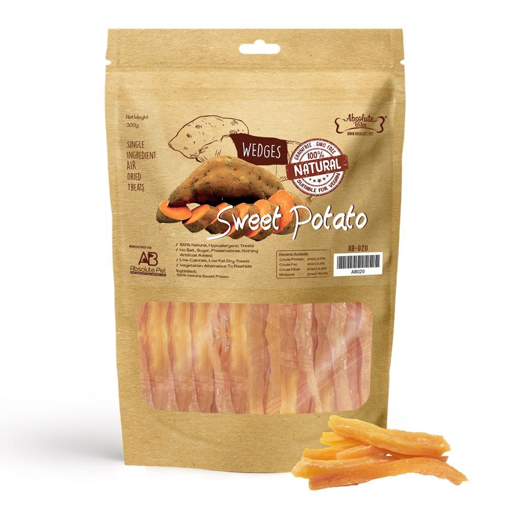 Air Dried Sweet Potato Wedges Dog Treats 300g