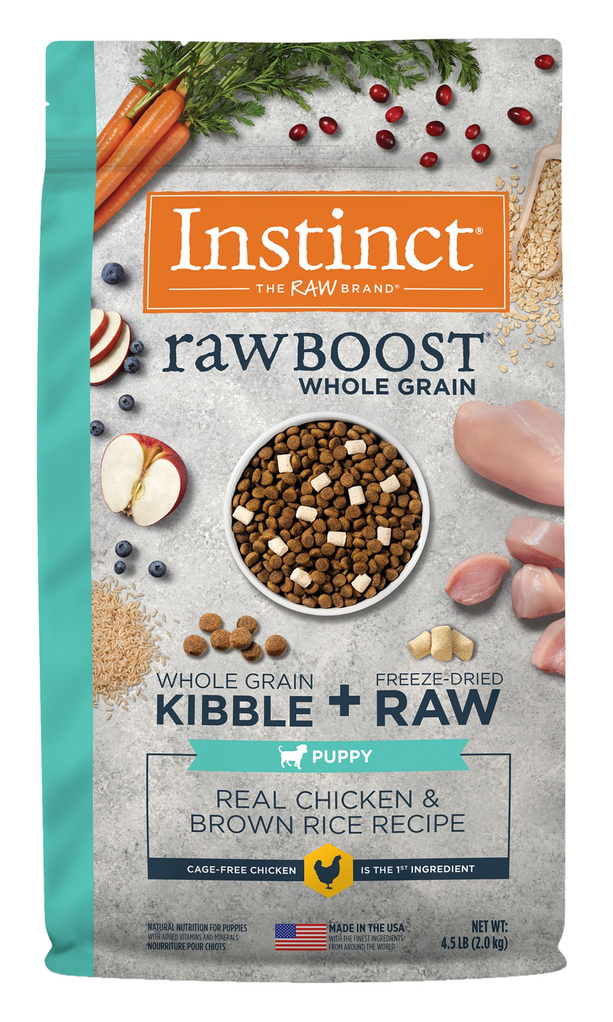 Raw Boost Whole Grain Recipe with Real Chicken and Brown Rice for Puppies