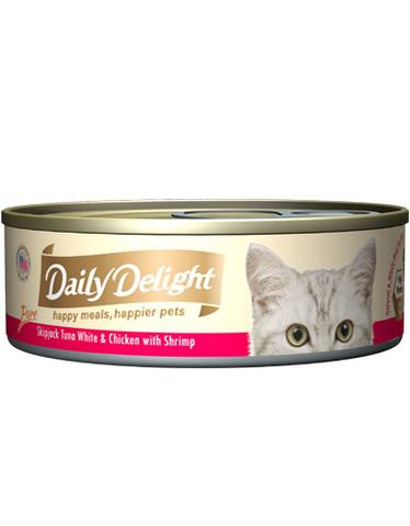 Pure Skipjack Tuna White & Chicken with Shrimp Canned Cat Food