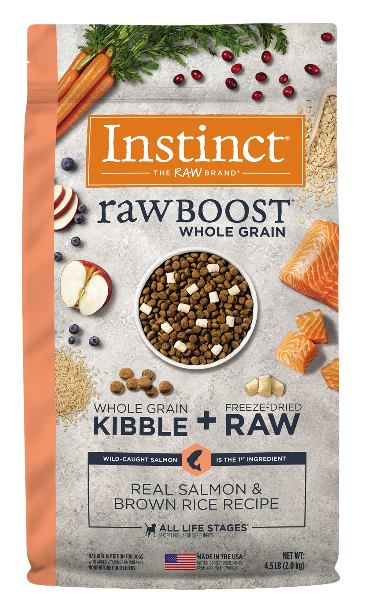 Raw Boost Whole Grain Recipe with Real Salmon and Brown Rice