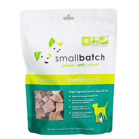 Freeze Dried Lamb Hearts Dog and Cat Treat (3.5oz)